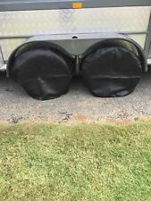 2 off  Caravan and boat  Wheel/Tyre covers Black
