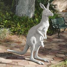 """Life Size Kangaroo Joey in Pouch Aussie Outback Wildlife Sculpture 66"""" H."""