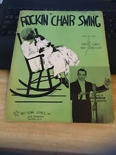 Vintage Sheet Music - Rockin' Chair Swing Lopez /Schaefer 1937