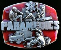 PARAMEDICS BELT BUCKLE BUCKLES AMBULANCE EMT HOSPITAL EMERGENCY SUPPORT
