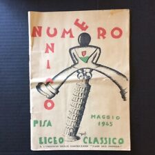 WWII Era Cultural Political Journal Highschool Liceo Classico Pisa Italy 1945