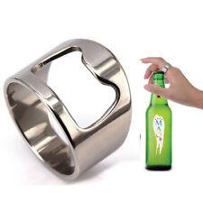 Metal Steel Silver Beer Bottle opener Ring Men's Guys Gift