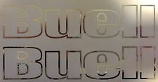 Buell Outlines vinyl decals. Chrome . Or Choose your Color.