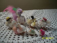 Assortment Vintage Pom Pom Chenille Chicks Turkeys Ducks Top Hats