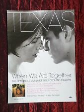 TEXAS  - MAGAZINE CLIPPING / CUTTING- 1 PAGE ADVERT