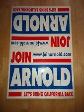 Arnold Schwarzenegger Official Campaign Lawn Election Sign Governor California