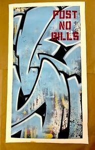 SEEN Original CANVAS WILD STYLE blue Richard Mirando PNB Graffiti Godfather cope