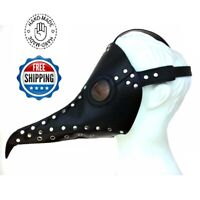 Halloween Costume Plague Doctor Mask Steampunk Masquerade Raven Leather Cosplay