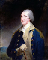 Portrait Of President George Washington History Painting Real Canvas Art Print