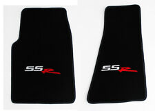 NEW! BLACK Front Floor Mats 2003-2004 CHEVY SSR EMBROIDERED Logo on Both Pair