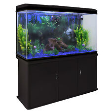 Fish tank aquarium complete set up tropical marine 4ft 300 litres noir cabinet