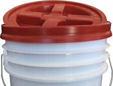 Gamma Seal Lid RED Fits 3.5 to 7 Gallon Buckets Airtight Seals S17945R