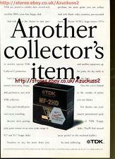"TDK MF-2HD ""Another Collectors Item"" 1991 Magazine Advert #5564"