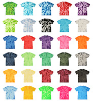 Tie Dye T-Shirts Adult Sizes (S-5XL) Unisex 100% Cotton Colortone-Gildan
