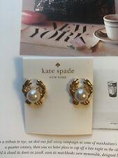 BN Kate Spade Golden Tone Crab Stud Earrings Rare -Chic