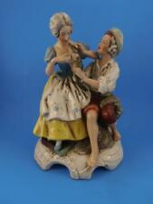 Man & Woman With Fish Figurine Statue Germay GDR Porcelain Antique
