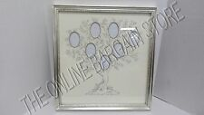 Pottery Barn Kids Family Tree Gallery Picture Photo Frame Silver Leaf 20x21