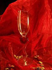 2 Corazón Sektgaeser con rojo - Copa para champaña - Boda - Amor - Cristal