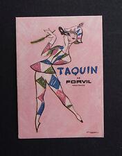 Ancienne carte parfumée TAQUIN DE FORVIL Paris France Parfum