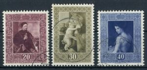 "Liechtenstein 1952  ""Gemäldeserie"" ANK.306-308  HP5320, gestempelt"