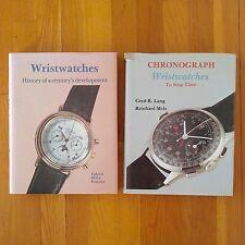History of Century's Development + Chronograph Watch Collector Books, Schiffer