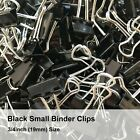 Black Small Binder Clips, 3/4 inch (19mm) Small Metal clamp, Black Paper Clips
