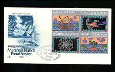 Postal History US Marshall Islands FDC #31-34 Postal Service Artcraft 1984