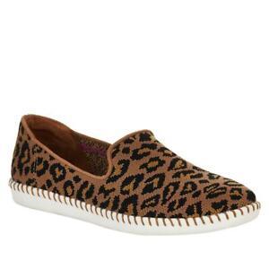 Skechers Cleo Stitch St. Tropez Leopard SlipOn Sneaker 685090-J
