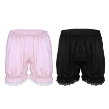 Men's stretchy satin underwear sissy shorts bloomers knicker panties Mini pants