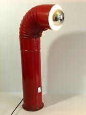 Ancienne  Lampe Tuyau Poêle  Rouge Vintage des Années 1970's