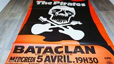 groupe THE PIRATES ! rare affiche bataclan musique concert rock jazz vintage