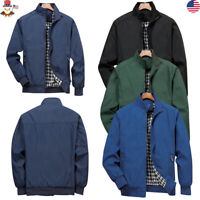 Mens Jacket Clothing Summer Lightweight Bomber Coat Casual Outfit Tops Outerwear