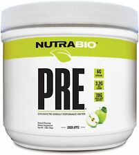 NUTRABIO - PRE Workout V5 Natural 20serv - Green Apple - **Exp: 03/20**