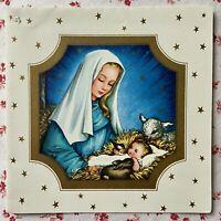 Vintage Mid Century Charlot Byj Madonna & Child Christmas Greeting Card Art