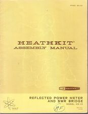 HEATHKIT ASSEMBLY MANUAL FOR REFLECTED POWER METER, MODEL HM-15