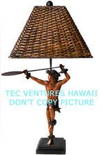 "Kim Taylor Reece ""Hoe Wa'a"" Hawaiian Hula Sculpture Lamp NIB"
