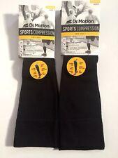 2 Pair Dr. Motion Sport Compression 15-20 mmHg Knee-Hi Unisex Socks