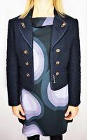 H. MOSER TYROLER LODEN Aus Österreich Women's Boiled Wool Vintage Blue Jacket