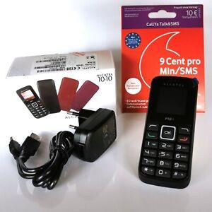 Prepaid Handy Alcatel 1010 Vodafone Talk & SMS SIM Karte 10 EUR Startguthaben D2