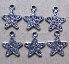 20pc Tibet Silver Star swing Charm Beads accessories wholesale  PL592