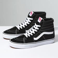 ⚫⚫ 2020 Vans Sk8 - Hi ® ( Men Size UK: 7 9 11 ) Black / White Suede Leather