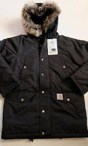 Man Jacket Carhartt Anchor Parka (Black) Size XL Value