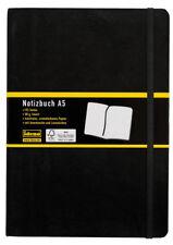 Idena Notizbuch DIN A5, 192 Seiten, Liniert, Schwarz