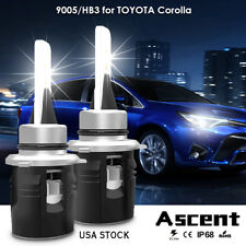 LED Headlight Kit High Beam Cree Lights 9005 HB3 Bulbs For Toyota Corolla 2014