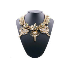 Fashion Crystal Chunky Collar Statement Bib Pendant Necklace Stylish