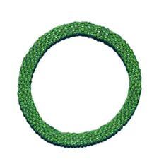 Neon Green Crocheted Beaded Bracelet, Seed Beads,Nepal,NB50,Nepal, Roll