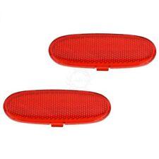 MOPAR OEM Door Panel Reflector Lens Red Front Pair for Dodge Ram Durango Aspen