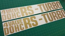 Nissan Skyline RS DR R30 side wind iron 4 VALVE DOHC RS TURBO stickers decals