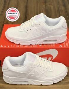 Nike Air Max 90 Triple White Shoes CQ2560-100 Women's Sz 10 Men's Sz 8.5 No Lid