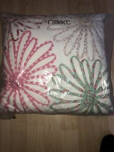 Large Square Floral Applique Vintage Cushion 39 X39 Cms